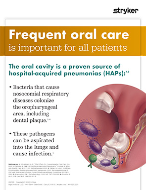 Oral care benefit poster