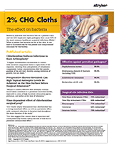 2% CHG Cloths – The Effect on Bacteria Brochure